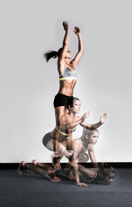Woman demonstrating are burpees good for MMA