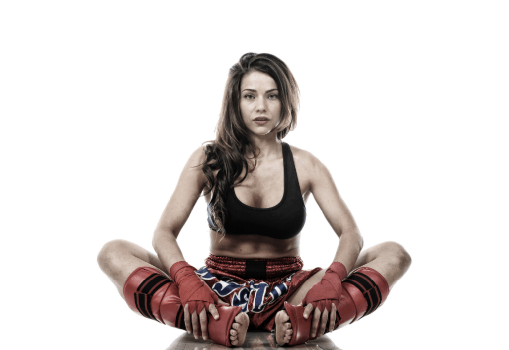 Woman demonstrating whether is yoga good for BJJ