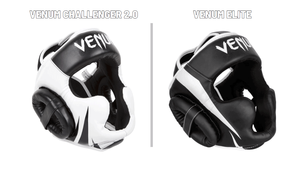 two types of headgear for MMA sparring